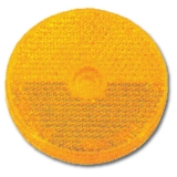 REFLEX REFLECTOR ROUND YELLOW